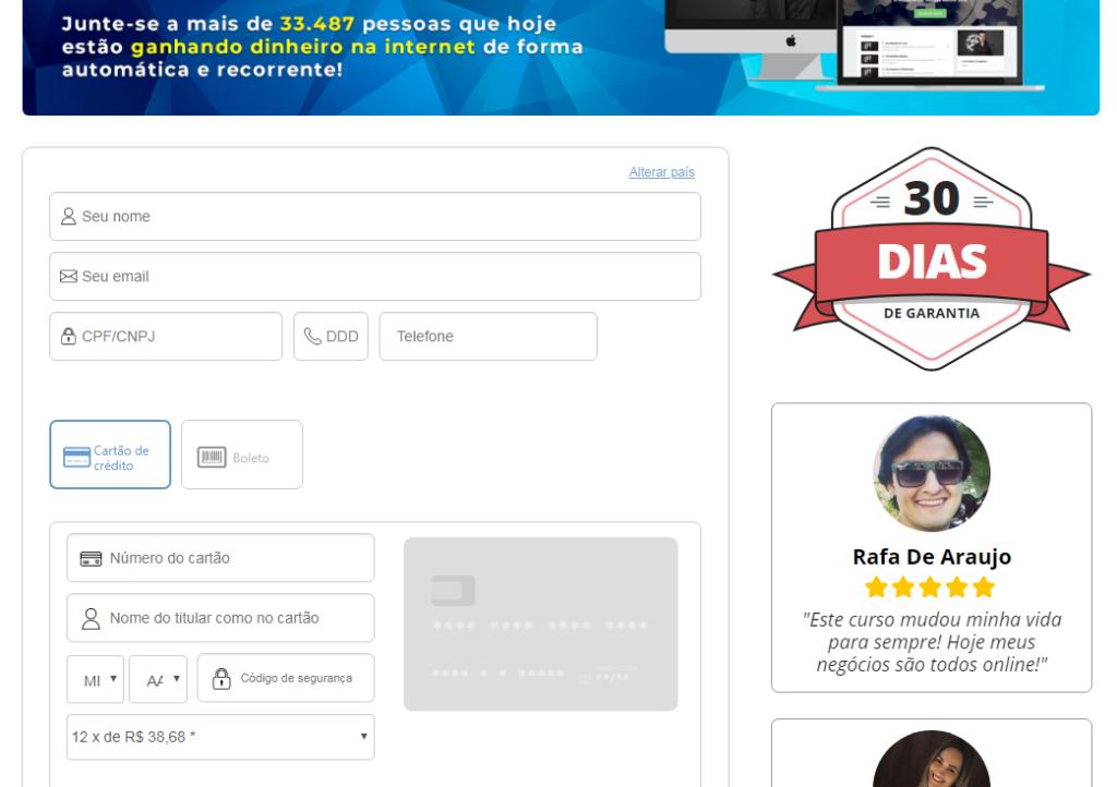 maquina de vendas online passo 3