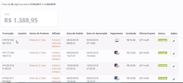 Print resultados maquina de vendas Tiago Bastos