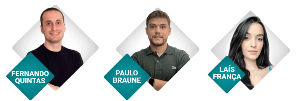 Fernando Quintas e Autores do Curso Drop Profissional