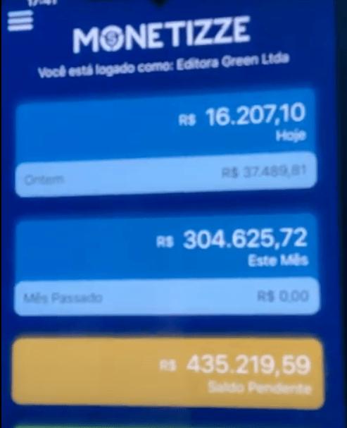 Resultados do autor do curso Net Milionário