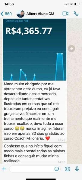 Curso Coach Milionário Depoimentos