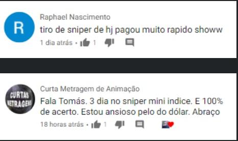 Curso Sniper Thomas Castro Depoimentos