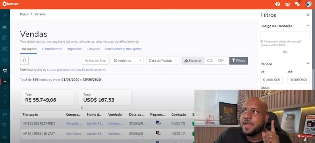 Vini Rodrigues Jacinto Money Resultados