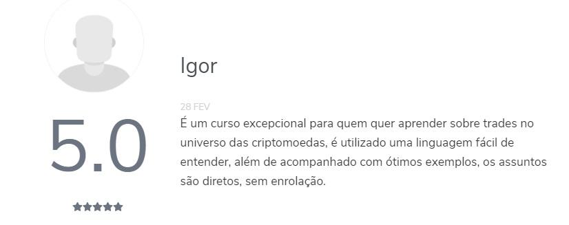 Depoimentos sobre o Curso Mestres Do Bitcoin 3.0